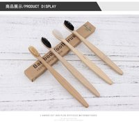 Toothbrush :MOQ 20pcs Natural Pure Bamboo Portable Soft Hair Tooth Brush Eco Friendly Brushes Oral Cleaning Care Tools