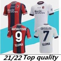 2021 2022 Bologna Futbol Formaları Eve Arnautovic Barrow Orsolini Camisetas 21 22 Dominguez Sansone Soriano Tomiyasu Futbol Gömlek Tayland Kalite