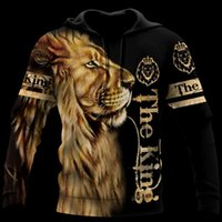 Men's Hoodies & Sweatshirts Animal Lion 3D Printed Fashion Mens Hoodie Tiger Harajuku Streetwear Pullover Autumn Sweatshirt Unisex Casual Ja