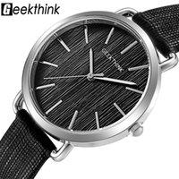 المعصم geekthink أعلى الأزياء الكوارتز ساعات النساء الفضة ساعة اليد عارضة الجلود السيدات اللباس ساعة الإناث relogio