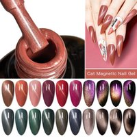 Nail Gel Four Lily Cat Eye Magnetic Polish Soak Off Uv Led Varnish Lacquers Shiny Glitter Polishes Nails Art