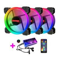 Fans & Coolings RGB Cooling Fan Pc Case Mute Computer Radiator Cooler LED Light 5v Controller Quiet Heatsink