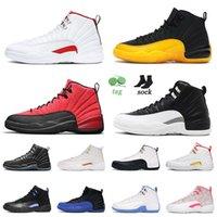 أحذية كرة السلة عالية الجودة nike air jordan retro 12 12s لعبة الانفلونزا جامعة الذهب تويست التصفيات الظلام كونكورد رجل إمرأة المدربين حجم 13