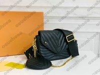 موجة جديدة متعددة Pochette حقيبة كروسبودي مصممين جلدية Luxurys حقيبة يد عملة محفظة سلسلة تحمل مطرزة M56461