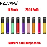 Authentic FZCVAPE NANO Disposable Kit E Cigarettes Device 2500 Puffs 1000mAh Battery 6ml Prefilled Pod Cartridge Vape Pen VS Bang XXL Max Puff Genuine