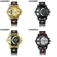 Ansehen cagarny top männer quarz analog männliche Uhren Mens Mode Beiläufige Sportarmee Armbanduhr Mann erkek safatler