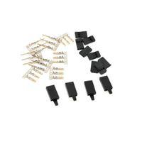 Sicherungsmodell JR FUTABA SERVO-Empfänger-Anschlussstecker mit Schloss und männlichen weiblichen Gold-plattierten Terminals Crimp-Pin-Kit für RC-Batterie 5/10 Paare
