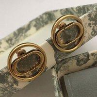 الأزياء وأقراط للنساء مصمم الفاخرة مجوهرات الذهب إلكتروني القرط لحزب عشاق الزفاف هدية مع مربع