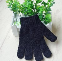 300 lotExfoliating Black Spa Bath Gloves Nylon Brush Scrub Shower Gloves Scrubber Wholesale