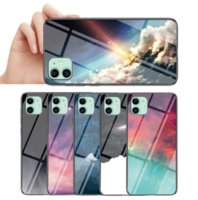 Starry sky stained glass soft edge phone cases for iphone13 pro max 12 min 11 X XR XS 7 8 plus case cover