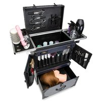 Koffer-Friseur-Toolbox-Walzgepäck-Haarstilist Bone Level-Arbeiter Koffer-Box-Schublade Clipper professioneller Ölkopf