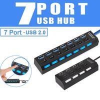 USB 2.0 Splitter 2 0 Multi-Port mit Netzteil Mehrere HAB-Switch für PC-Computer-Zubehör-Hubs
