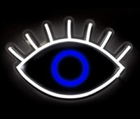 Oliver Gal |Looking Eye neon signs DIY Glass LED Neon Sign Flex Rope Light Indoor Outdoor Decoration RGB Voltage 110V-240V 17*14 inches