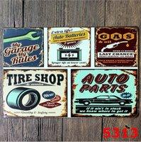 Segni di latta in metallo personalizzato Sinclair Olio motore Texaco Poster Home Bar Bar Decor Art Immagini Vintage Garage Segno 20x30cm HWD6215
