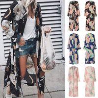 Camicette sciolte da donna Summer Chiffon Scialle Kimono Manica lunga Cardigan Protezione solare Tops Lady Shirt