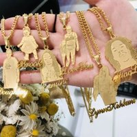 Custom Photo Necklac For Women Men Personalised Jewelry Stainls Steel Custom Any Character With Name Necklace Pendants