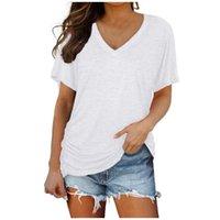 المرأة t-shirt الصيف محبوك الخامس الرقبة المرأة القطن الأساسية الصلبة تي شيرت الإناث قصيرة الأكمام kinteal y2k قمم المتناثرة زارينج الزى