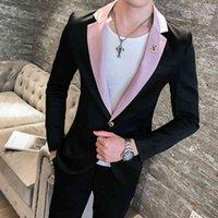 Terno Masculino Viese Costume Homme Deep V Sexy Outfit Мужская Стильный Blazer 4 Цвета Британский Стиль Slim Fit Костюм Куртка Мужчины Пальто