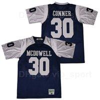McDowell Trojans High School 30 James Conner Football Jersey Navy Blue Team Color Sport Pure Algodón cosido Hombres transpirables Top Calidad
