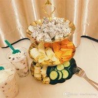 Cupcake Paslanmaz Çelik Yuvarlak Tabak Ile Standı Düğün Doğum Günü Partisi Kek Raf Ev Yaratıcı Somun Şeker Pasta Plaka Tutucu 08QX