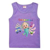 아이들을 위해 Cocomelon 만화 어린이 소매 민소매 T-Shrit 패션 JJ 소년 소년 소녀 캐주얼 탑 티셔츠 아동 귀여운 스포츠 여름 학생 의류 G763314
