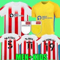 Sunderland 21 22 Soccer Jerseys Home Away Gooch Pritchard Evans Grigg Arbenit Xhemajli O'Brien Wright Stewart McGeady Camisetas 2021 2022 Mannen Kids Kit Voetbal Shirt