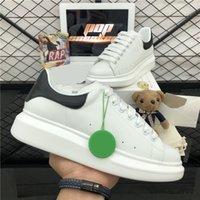 Hombres de primera calidad Mujeres Diseñadores Sneaker Zapato casual 3M Zapatillas de deporte reflectantes Moda Cuero genuino Veleta Plataforma al aire libre Plana para hombre zapatillas de deporte con caja