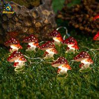 LED String Light Mushroom Cherry Blossom Lights Operado por batería 3m 30leds Flowing Strings para la decoración navideña de la habitación