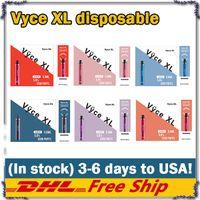 100% Оригинал Vyce XL Одноразовые E-Cigarettes VS HQD CUVIE PLUS 1200 Устройство Puffs Vape Pen 8 Цветов Стартовые наборы 950 мАч Батарея 5.0 мл Pods Cigarettes
