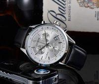 손목 시계 패션 럭셔리 럭셔리 쿼츠 남자 시계 일본 브랜드 비즈니스 캐주얼 가죽 밴드 시계 남자의 세계 크로노 그래프 손목 시계 남자