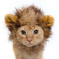 Dog Apparel Hat For Dogs Cats Emulation Lion Hair Mane Ears Head Cap Autumn Winter Dress Up Costume Muffler Scarf Pet Animal Hats