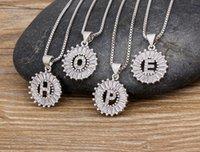 26 Ожерелья английского алфавита для женщин и девочек Оригинальный высококачественный медный инкрустированный кубический циркона геометрический кулон O-образной цепи