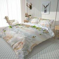 الأزياء رومانسية زهرة الفراش المنسوجات المنزل سرير واحد مزدوج حاف الغطاء وسادة حالة ورقة بوي فتاة مجموعة مجموعات