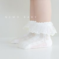 6 Colors Newborn Baby Girls Mesh Lace Socks Children Summer Spring Breathable Short Sock for School Kids Infant Toddlers Cute Thin Stockings
