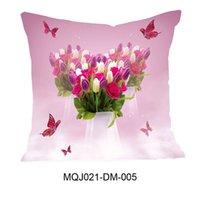 Feliz dia mãe carta fronha caso rosa flor estampada capa de almofada para sofá home fronhas decorativas capa gga4729
