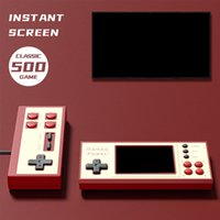 500 Retro Portable Game Players Mini Handheld Console Support Double Play Classic Pocket Video Games Box Color Screen For Kids Gift K30