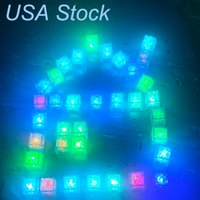 LED Işık Buz Küpleri Akrilik Aydınlık Gece Lambası Ev Partisi Bar Düğün Dekorasyon 6 Renk Uaslinght ABD Stok