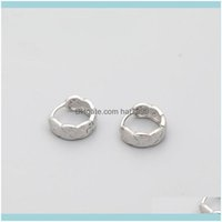 Stud Jewelrypoetry Is Simple, Cold Wind Wave, Wide Face Check S925 Sier Ear Button, Fashion Earrings, Mens And Womens Earrings Drop Delivery
