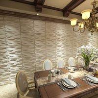 ART3D 50X50CM 3D壁パネルPVCマットホワイトの波状デザイン防音室ベッドルーム(12タイルのパック)のための自己接着剤