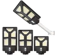 300W 400W 500W LED Solar Lamp Wall Street Light Wide Angle Super Bright Motion Sensor Outdoor Garden Security with pole