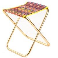 Ao ar livre Mini portátil dobrável banquinho de alumínio tripé de campismo cadeira de pesca com saco de armazenamento móveis de campo