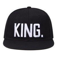король королева бейсболка 3d вышивка пара шляпа женские бейсбольные кепки Snapback Mens Cap Party
