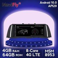 Navifly Android 10 IPS 4G DVD Radio Navigation GPS Navigation multimédia pour 5 Série F10 / F11 / 520 (2011-2021) Joueur CIC / NBT original