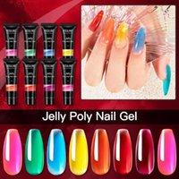 Nail Art Kits 8pcs Jelly Extension Gel Flexible Transparent Glaze Set Crystal UV Potherapy Glue Amber Extender