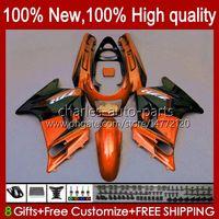 Körper OEM für Kawasaki Ninja ZZR-250 1990 1991 1992 1993 1995 96 97 98 99 Bodywork 54HC.82 Orange BLK NEUER ZZR250 CC ZZR 250 90 91 92 93 94 95 1996 1997 1998 1999 Verkleidung