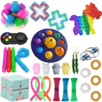Push Bubble Fidget Toys Set Anti Stress Strings Relief Adults Children Sensory Squishy Antistress Toy Packed Birthday party Gifts