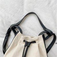 Kadın Çanta El Tutulan Kova Çanta Yaz Kore Edition Moda Trend Kişilik Eklenmiş Tuval Çanta DHE6137