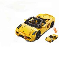 Technical MOC Aventadored Super Sports Car Building Blocks Sets Bricks Classic GTR Model Kids Toy For Children Compatible Cars X0503