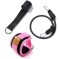 Resistance Bands Foldable Doorway With Ankle Straps Home Gym Fitness Legs BuPull Rope Booty Glutes Workout Cable System