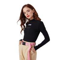 Frauen Jumpsuits Strampler Baumwolle Langarm High Neck Skinny Reißverschluss Stickerei Body Winter Frauen Solide sexy Körperanzug